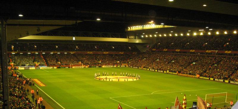Anfield Stadium for an Europa League match