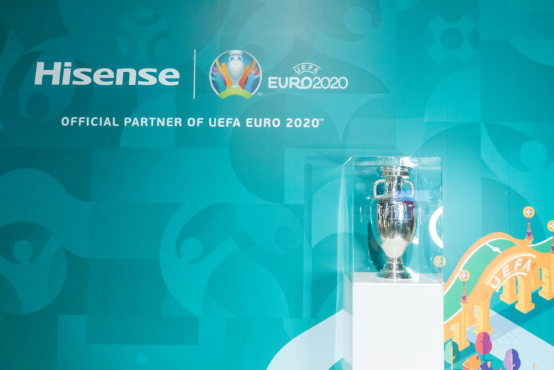 The trophy of the 2020 Euro Competition