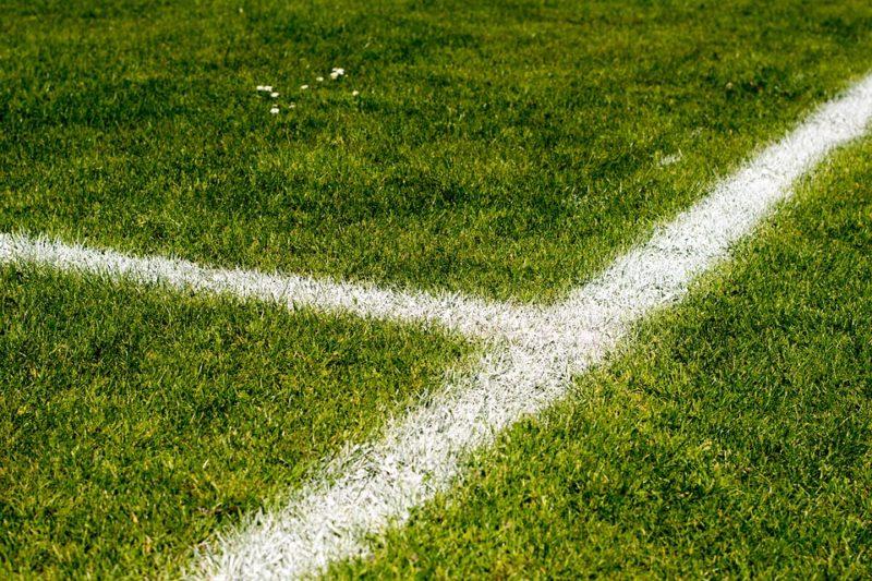 Football field in teh Bundesliga