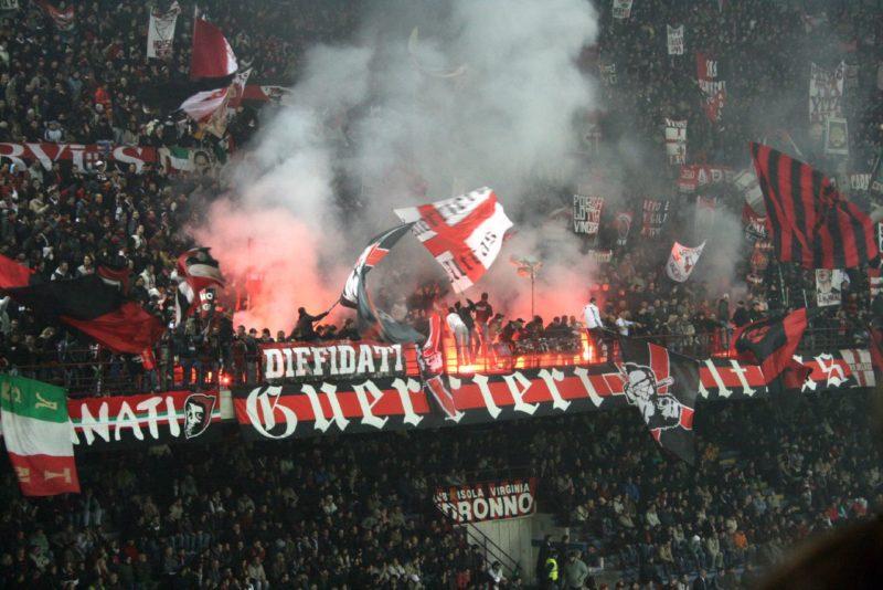 AC Milan fans celebrating