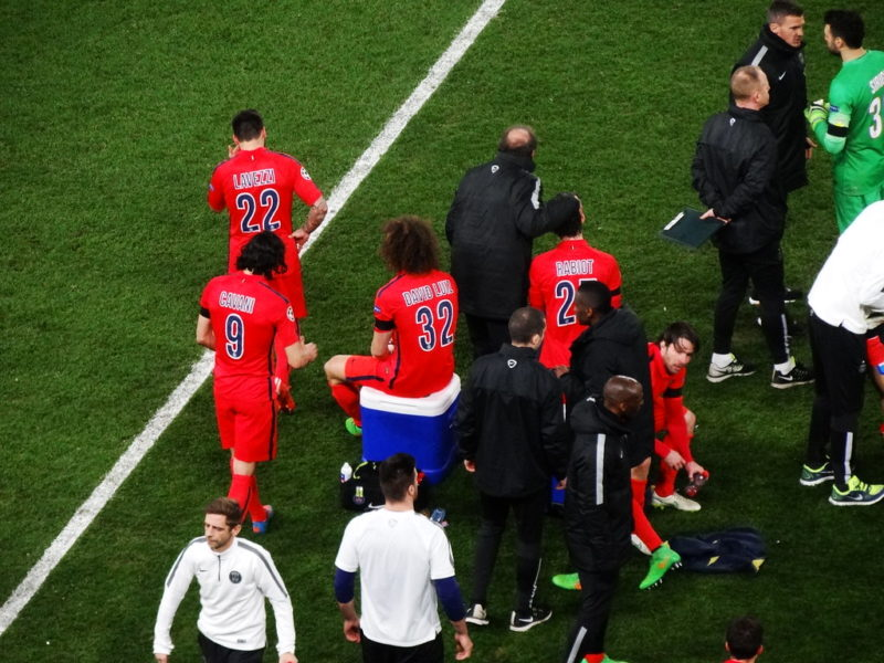 PSG players before a match