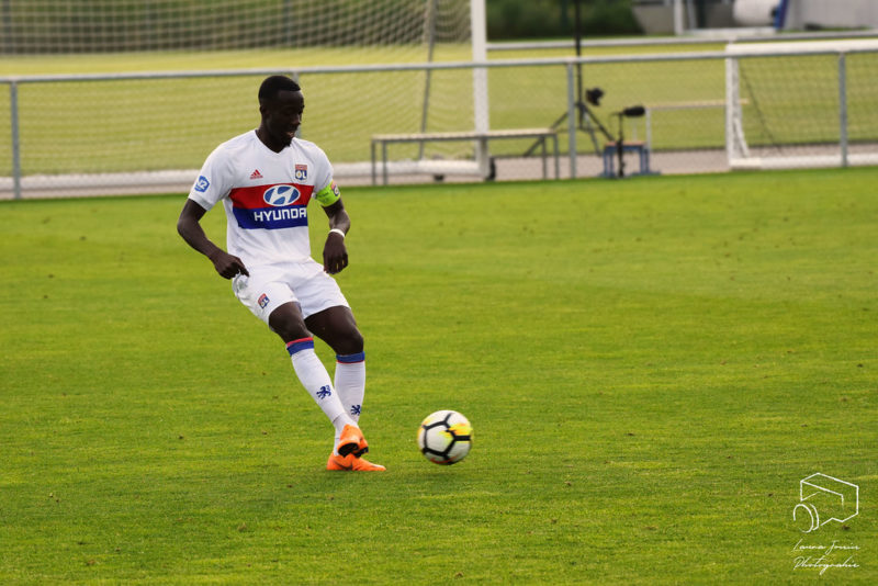 Olympique Lyon player on the pitch