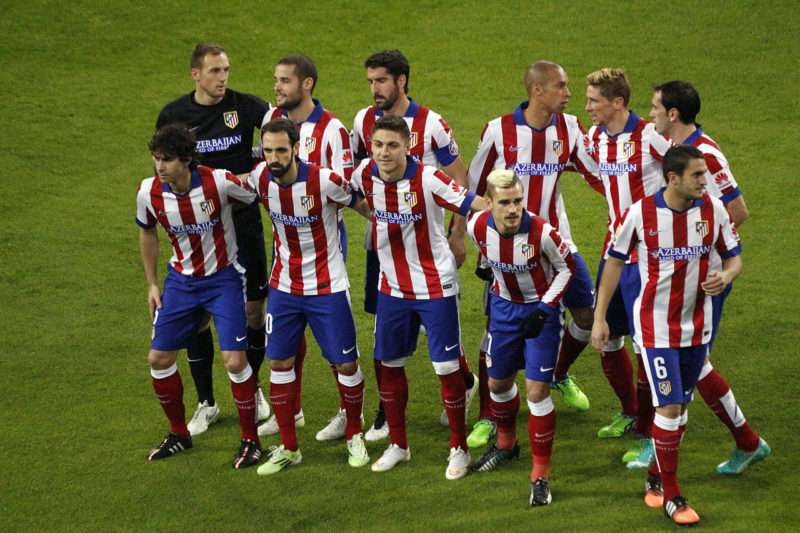 Atletico Madrid preparing before a match