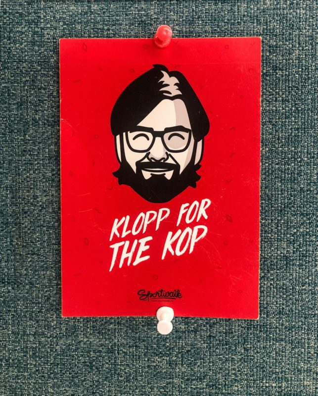 Klopp for the Kop red poster