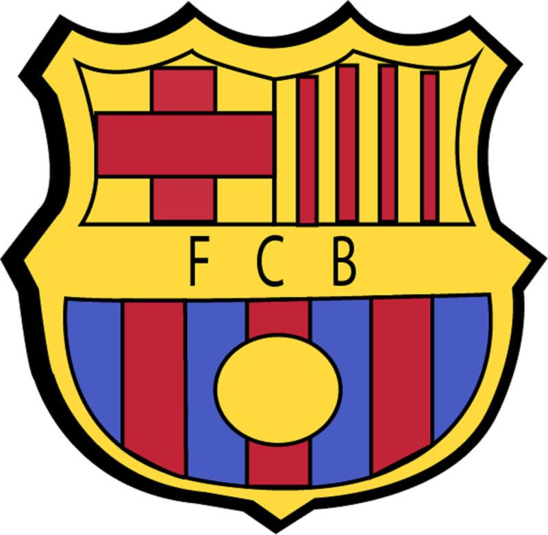 The logo of FC Barcelona
