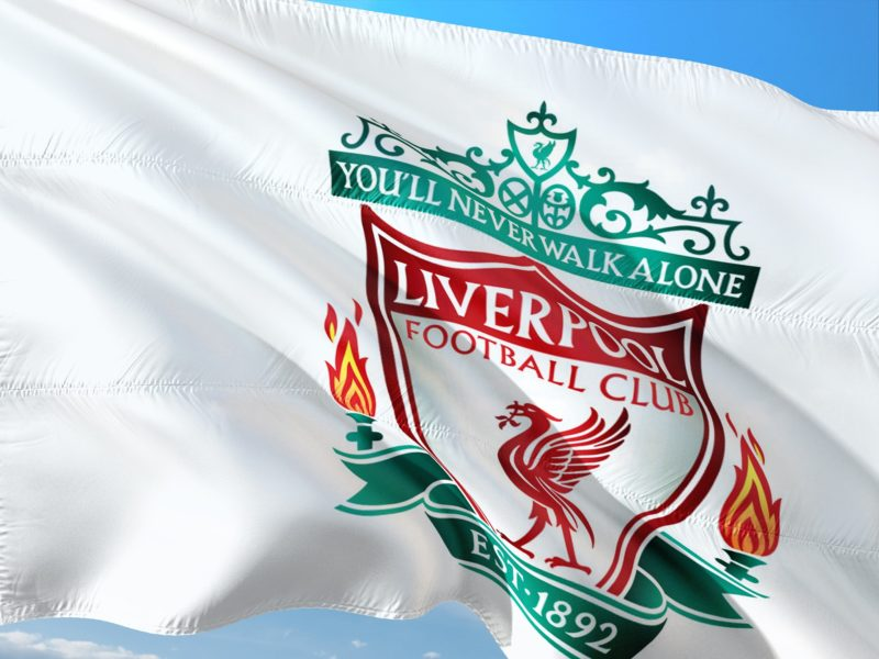 The flag of Liverpool FC