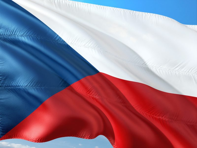 The flag of the Czech Republic