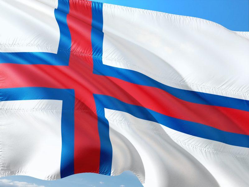 The flag of the Faroe Islands