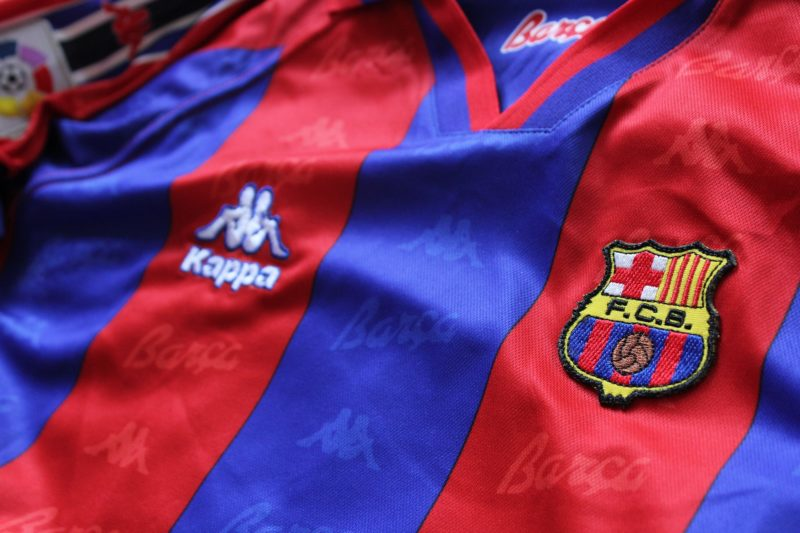 A jersey of FC Barcelona