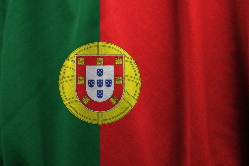 A photograph of the flag of Portugal
