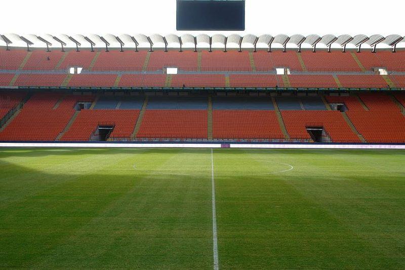San Siro stadium is empty
