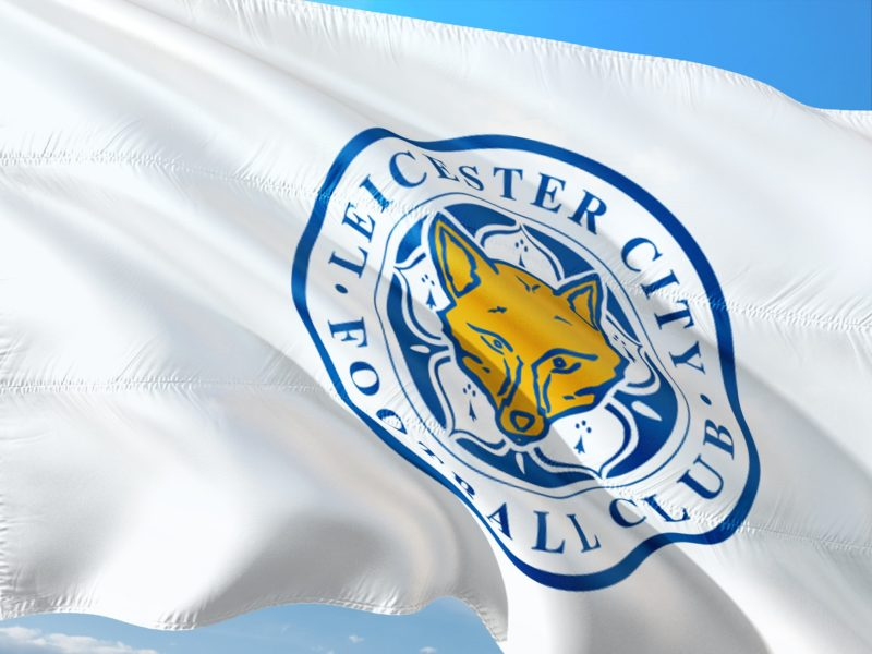 The flag of Leicester City