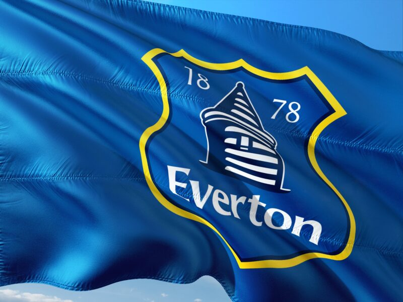 Everton's flag and crest