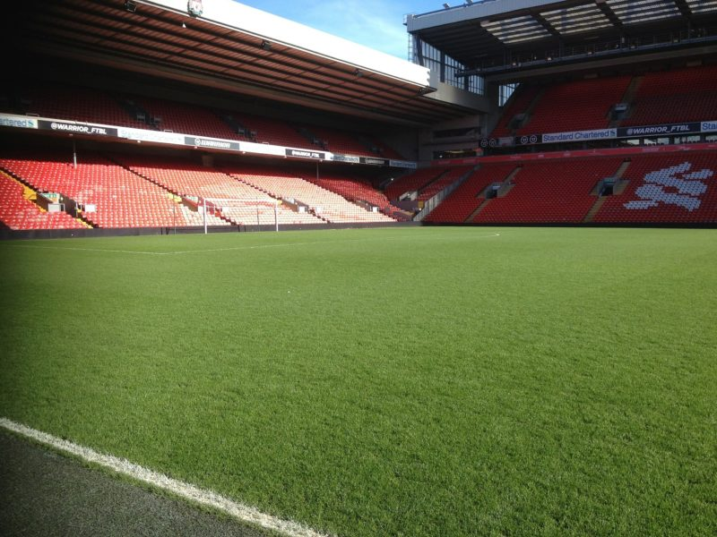 Anfield is without an audience
