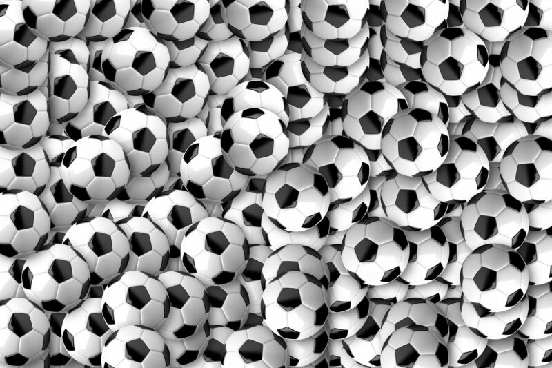 Over a hundred footballs