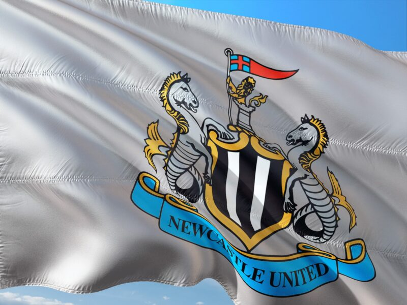 The flag of Newcastle United