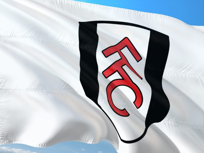 The flag of Fulham FC