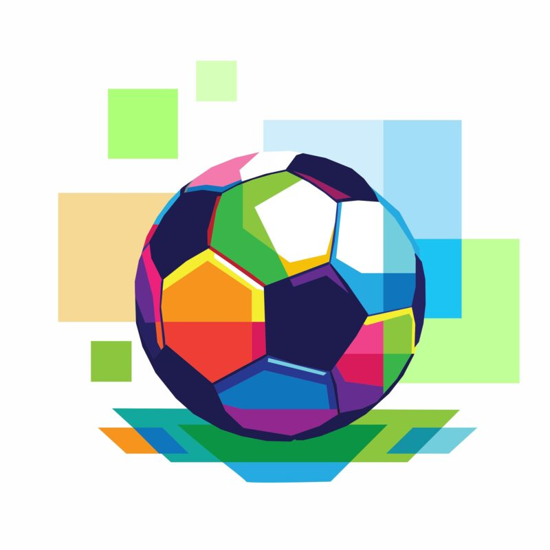 A small colorful football