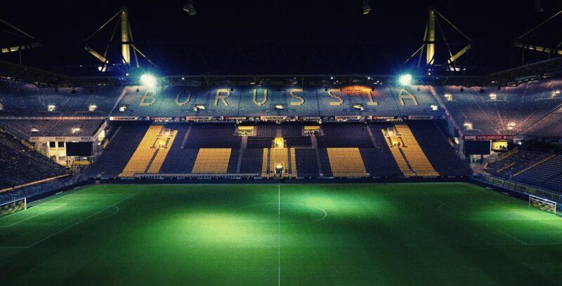 The stadium of Borussia Dortmund